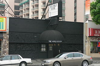River Phoenix - The Viper Room on Sunset Strip in Los Angeles, where Phoenix collapsed on the sidewalk and died.