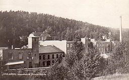 Viskafors gummifabrik i Svaneholm i midten af 1930'erne.