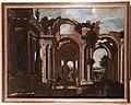 Viviano Codazzi and Domenico Gargiulo - Basilica of Constantine with travelers.JPG