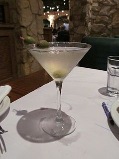 Vodka martini Cocktail made with vodka and vermouth