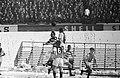 Voetbal Blauw-Wit tegen Ajax (2-2). Bleyenberg, Pronk (Ajax), Muller (Ajax), Koe, Bestanddeelnr 913-5930.jpg