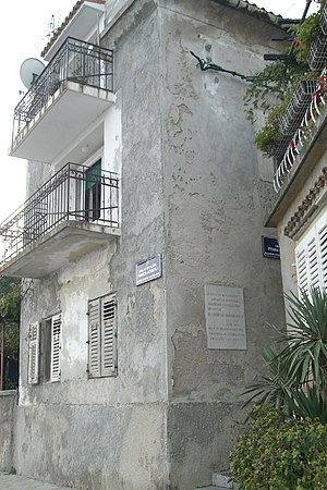 Andrija Mohorovičić - The house in Volosko where Mohorovičić was born.