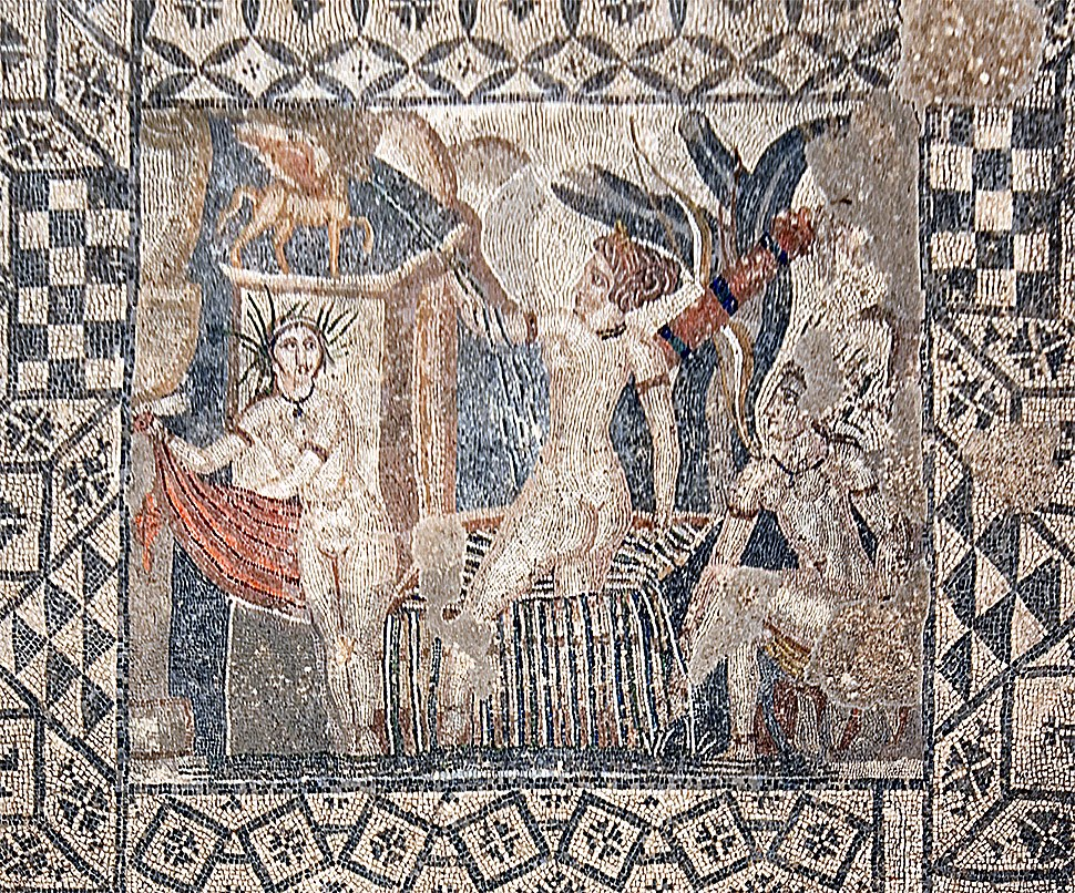 Volubilis mosaic Diana and her nymph