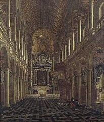 Interieur van de Jezuiëtenkerk in Antwerpen