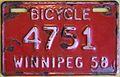 WINNIPEG MANITOBA 1958 -BICYCLE PLATE - Flickr - woody1778a.jpg