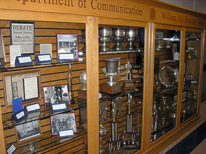 Trophy Case Of The William Pitt Debating Union Located In University Pittsburgh Department Communication On Eleventh Floor Cathedral