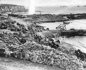 2/1st London Brigade - W Beach at Cape Helles, just prior to the evacuation