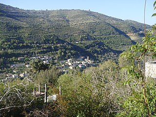 Town in Hama, Syria