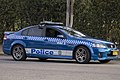 Wagga Wagga LAC Highway Patrol (WW 205) Holden VE Commodore SS parked in Beackwith St.jpg