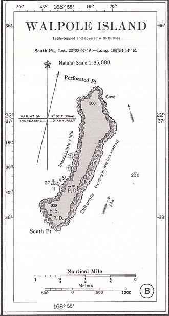 Walpole Island (New Caledonia) - US Nautical Chart (1901)