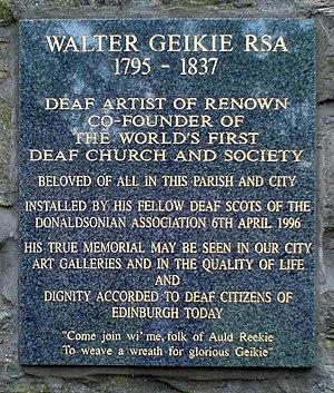 Walter Geikie - The memorial to Walter Geikie