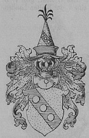 Bombast von Hohenheim - Coat of arms as depicted by Kindler von Knobloch (1894).