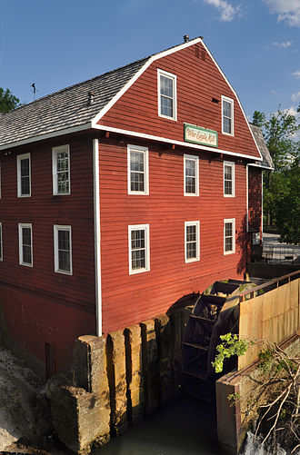 War Eagle Mill - War Eagle Mill as reconstructed in 1973.