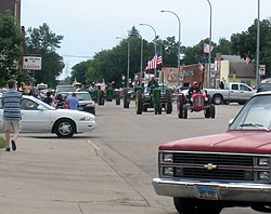 2007 Tractor Trek traveling down Main Ave. in Washburn