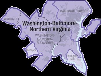 Washington-Baltimore-Northern Virginia CSA, 2005