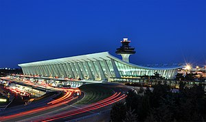 Virginia - The main terminal of Washington Dulles International Airport is one of the few surviving examples of Space Age architecture.