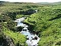 Waterfalls on the Abhainn Poll-losgainn - geograph.org.uk - 952529.jpg