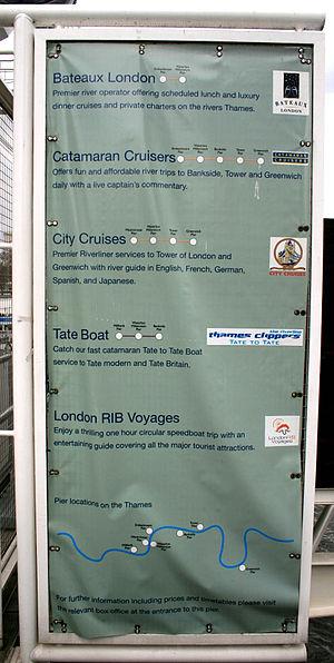 London Eye Pier - Image: Waterloo Pier 2