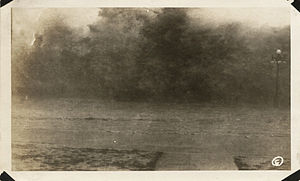 1915 Galveston hurricane - Waves on seawall, 4:30-5:00 p.m., August 16, 1915.