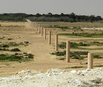 "Dani Karavan - ""Way of Peace"" constructed 1996-2000 between Israel and Egypt"