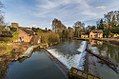 Weir in River Teme, Bromfield.jpg