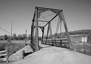 Wills Creek Bollman Bridge - Wills Creek Bollman Bridge, pictured at former location