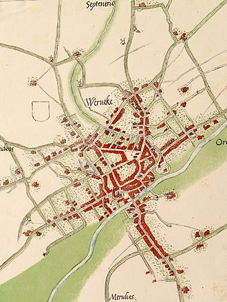 Wervik - unified Wervik on Deveter map