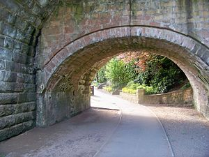 Wetherby Bridge - The three original bridges are evident from the change in height of the three arches seen here.