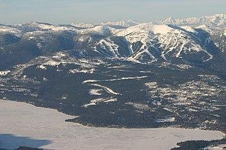 Whitefish Mountain Resort - Image: Whitefish Mountain Resort Aerial View