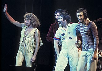 The Who - The Who in 1975. Left to right: Roger Daltrey (vocals), John Entwistle (bass), Keith Moon (drums) and Pete Townshend (guitar).