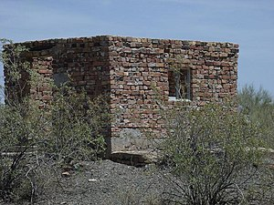 Vulture Mountains - Image: Wickenburg Vulture Mine Ammo House