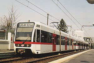 Lohner-Werke - Type T light-rail unit of Line U6, Vienna U-Bahn (1995)