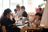 Wikimedia Hackathon Vienna 2017-05-19 Hacking Heuriger 002.jpg