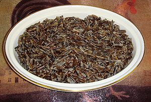 Cooked wild rice.