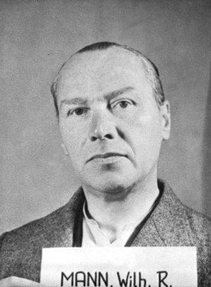 Wilhelm Rudolf Mann - Mann after his arrest by the US Army