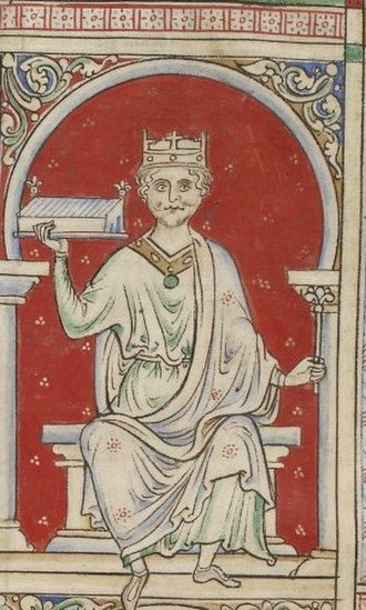 William II of England - William II drawn by Matthew Paris
