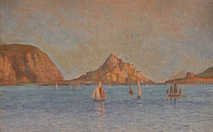 William Morrison Wyllie - Sailing Boats in Bay (1880; Southwark Art Collection)