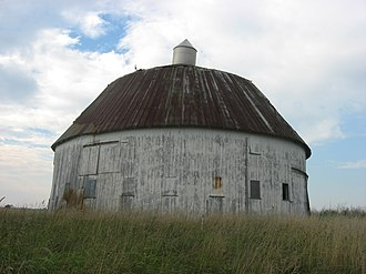 National Register of Historic Places listings in Paulding County, Ohio - Image: William Sinn Round Barn from the southeast