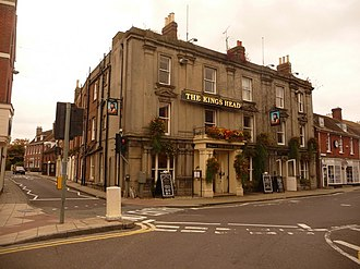 Wimborne Minster - The King's Head, facing onto The Square, 2009