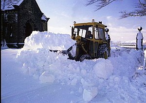English: Winter, 1962-63 - Snow clearance, top...