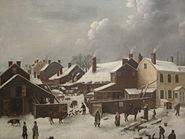 Winter Scene in Brooklyn painting IMG 3771