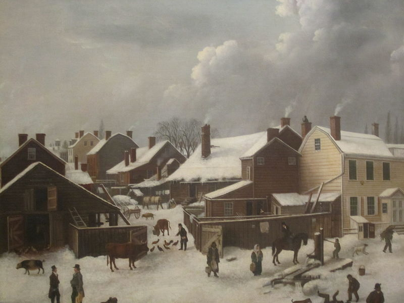 File:Winter Scene in Brooklyn painting IMG 3771.JPG