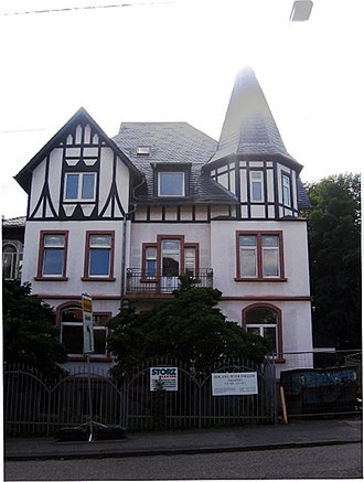 Stefan George - From 1921 George spent his summers in the hills on the south-western edge of Frankfurt at this house in Königstein, where he was attended by his sister, Anna.
