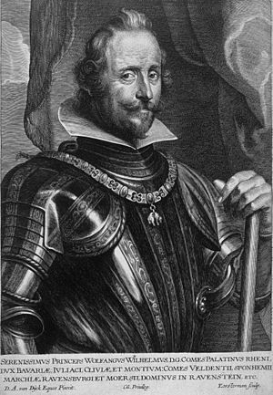 Lucas Vorsterman - Wolfgang William, Count Palatine of Neuburg; engraving by Lucas Vorsterman the Elder after a portrait by Anthony van Dyck