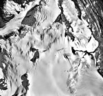 Wolverine Glacier, mountain glaciers, firn line, and icefall, September 27, 1995 (GLACIERS 6956).jpg