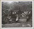 Women canning food outdoors in a wooded area 09711v.jpg