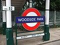 Woodside Park stn roundel.JPG