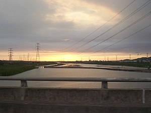 Dadu River (Taiwan) - Sunset at the lower reaches of Wu River
