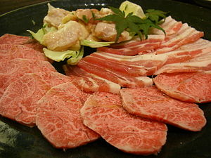 Yakiniku - Meat for yakiniku.