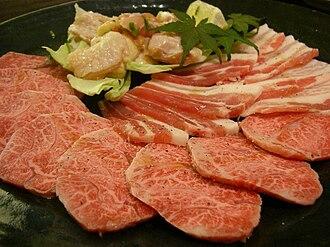 Yakiniku - Meat for yakiniku.